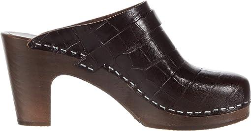Dark Brown Croc/Dark Brown Sole