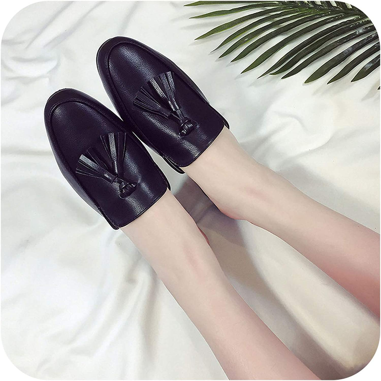 FAT BABY PU Black Women shoes Outdoor 2019 Summer Spring Pink Slippers Ladies Fashions Luxury Footwear Mules Designer Loafer Female House