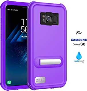 ASAKUKI Galaxy S8 Waterproof Case, IP68 Certified Case, Full Body Protective, Shockproof, Scratch-Proof, Dustproof Case with Built-in Screen Protector for Samsung Galaxy S8 - Purple