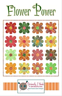 "Flower Power Quilt Pattern by Kelli Fannin Quilt Designs from Seriously I Think it Needs Stitches KFQP130-74"" x 74"""