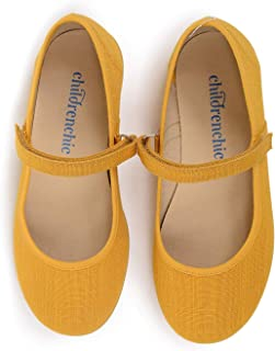 Sponsored Ad - Childrenchic Mary Jane Flats with Hook and Loop Straps – Shoes for Girls (Infant, Toddler, Little Kid)