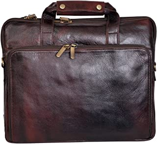 BAG JACK - Natural Grain Leather | Handcrafted | Bellatrix | Most Eye-Catching | Leather Office Bag for Men | Laptop Size...