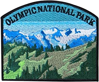 Washington Olympic National Park Souvenir Patch Hiking Travel Iron-On Applique