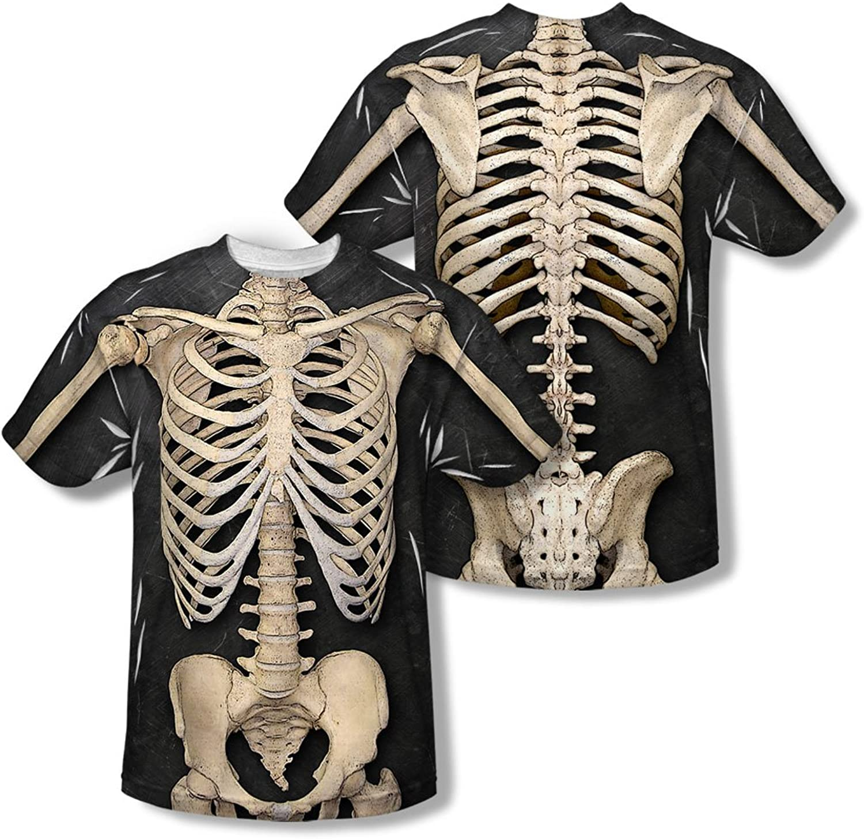 Skeleton Costume - Mens Back Print T-Shirt