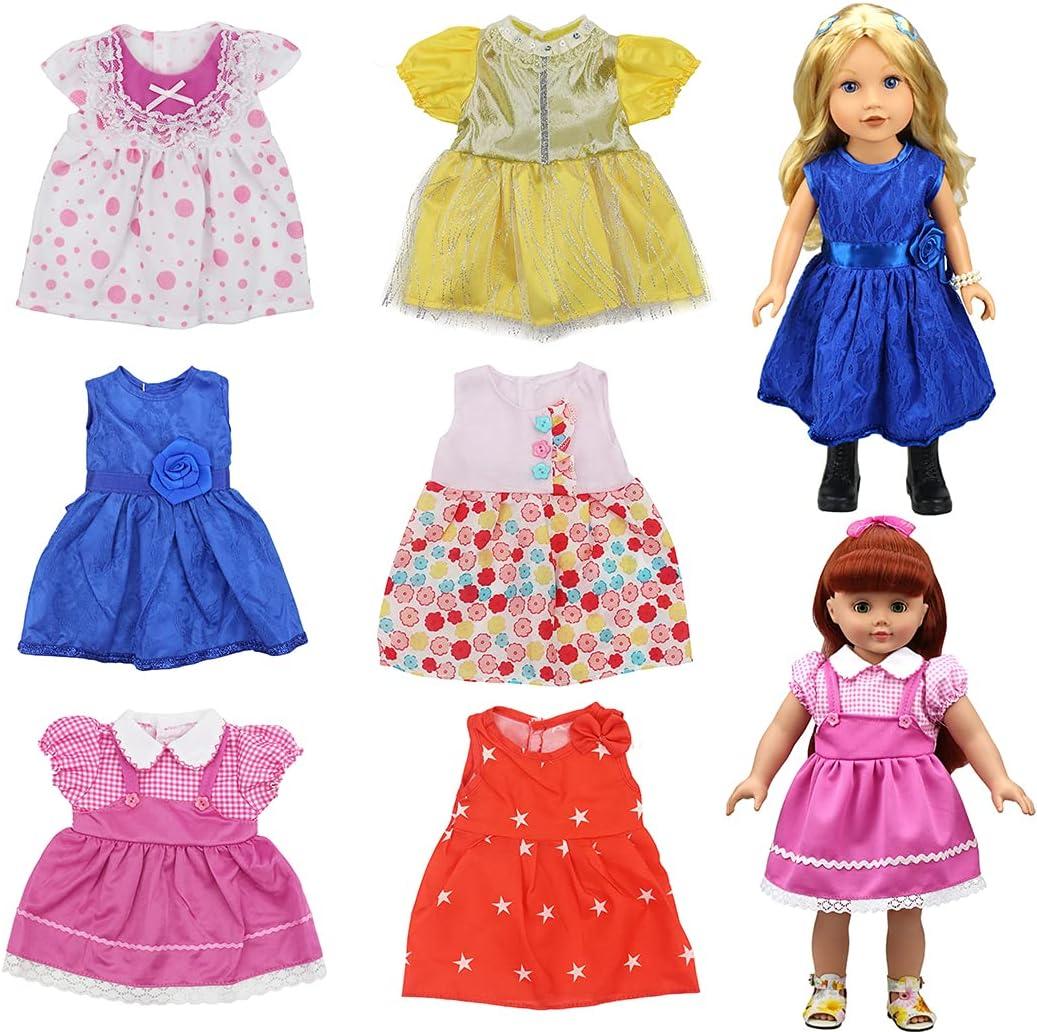 Lnrueg New sales Doll Dress Set Decorative Cloth Department store Do Realistic Thin Fashion