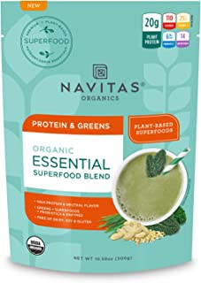 Navitas Organics Essential Superfood Protein Blend, Protein & Greens, 8.4oz. Bag , 10 Servings— Organic, Non-GMO, Gluten-F...