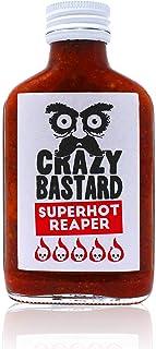 Crazy Bastard Superhot Reaper - Ultra scharfe Chili-Sauce mit 50% Carolina Reaper Chili…