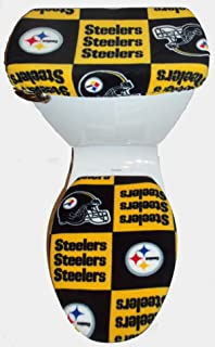 PITTSBURGH STEELERS SQUARES TOILET SEAT COVER SET