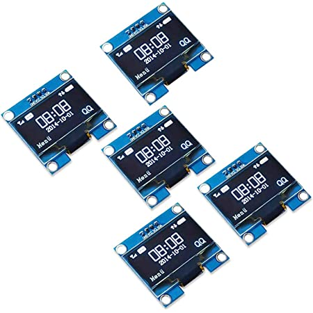 Blue Light Diymore 2pcs OLED Display Module 128x64 1.3 inch OLED Display I2C IIC Serial OLED Module with SSH1106 for Raspberry Pi and Microcontroller