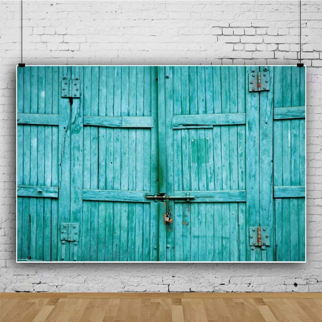 DaShan 14x10ft Ancient Old Barn Door Backdrop Shabby Wooden Western Cowboy Rural Photography Background Nostalgia Wood Plank Barnyard Party Decor Birthday Kids Adults Newborn Baby Photo Props