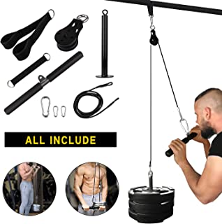 Elevtab Fitness LAT and Lift Pulley System, Nylon Machine...