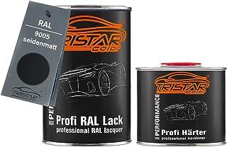 TRISTARcolor RAL 9005 Tiefschwarz seidenmatt 2K Autolack 1,5 Liter / 1500 ml Dose inkl. Härter
