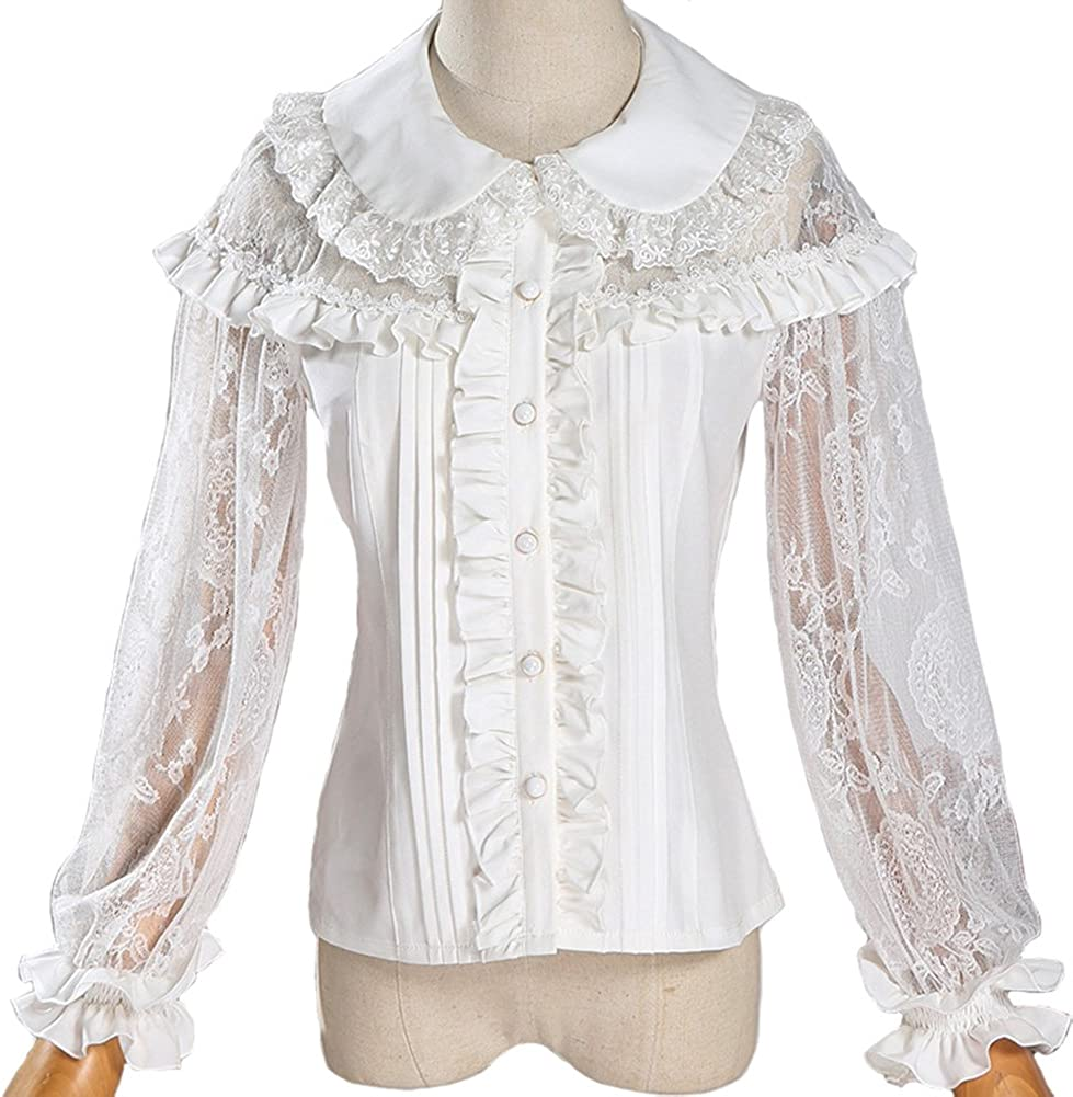 Ranking integrated 1st place Smiling Angel Sweet Lace Hollow Doll Collar Double Sleeve 4 Lo 3 High order