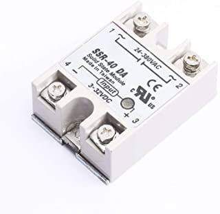 DEVMO SSR-40DA Solid State Relay DC-AC 3-32VDC 24-380VAC for Temp Controller Tool