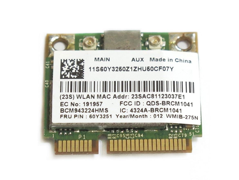 手コンピューターゲームをプレイする鹿Lenovo 60Y3251 + 汎用 Broadcom BCM43224 BCM943224HMS Dual-Band 802.11a/b/g/n 300Mbps WLAN 無線LANカード