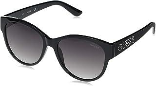 Guess Ladies Black Round Sunglasses GF6113 01B 56