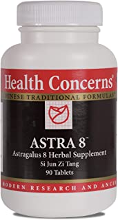 Health Concerns - Astra 8 - Astragalus 8 Chinese Herbal Supplement - Modified Si Jun Zi Tang - Immune System Enhancement - with Astragalus Root Extract - 90 Tablets per Bottle