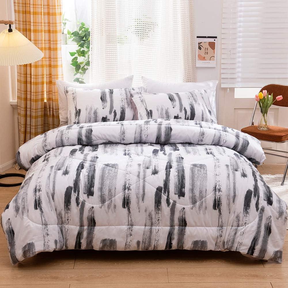 ADASMILE Finally resale start A S Queen Comforter White Black Ink Bedding Ranking TOP10 Set
