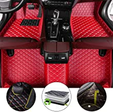 for 2009-2017 Jeep Patriot Floor Mats Full Protection Car Accessories Red 3 Piece Set
