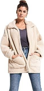 Z SUPPLY Clothing Women's Sherpa Teddy Bear Long Sleeve Coat