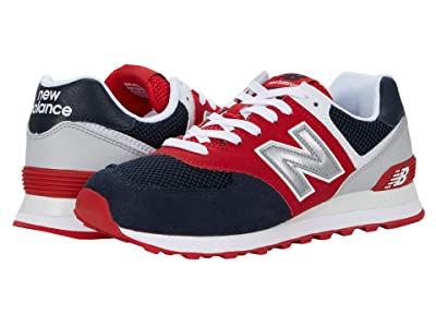 New Balance Classics 574v2-USA (Navy/Team Red) Men