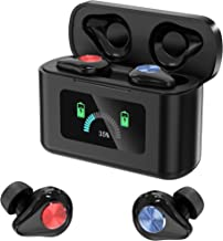2020 New Dynamic Color Screen Wireless Earbuds, Bluetooth 5.0 HD Stereo TWS Music Noise Cancelling Headset, Gaming Professional Headphones, Zero Latency, IPX7 Waterproof, Built-in Mic, 75H Playtime