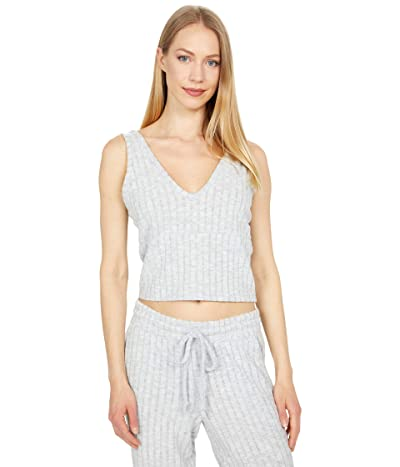 Chaser Poor Boy Rib Cropped Empire Seam Double V Tank