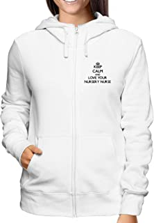 T-Shirtshock Felpa Zip Donna Bianca T0140 I Love Volley