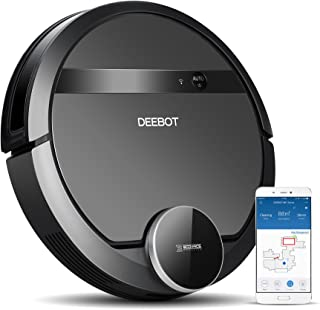 ECOVACS DEEBOT 901 Smart Robotic Vacuum for Carpet, Bare Floors, Pet Hair, with Mapping Technology, Higher Suction Power, WiFi Connected and Compatible with Alexa and Google Assistant