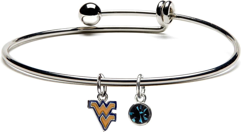 West free Virginia Regular dealer University Universit Bangle Dangle