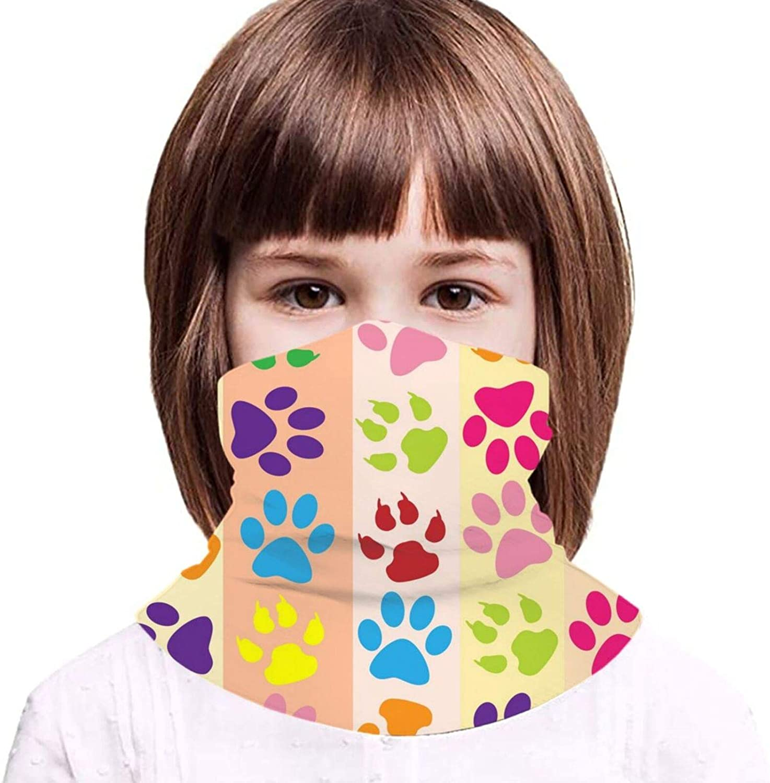 Boys Girls Balaclava Anti Dust Headband Dog Puppy Paw Bandana Neck Gaiter Mouth Cover Kids Youth Face Scarf Mask
