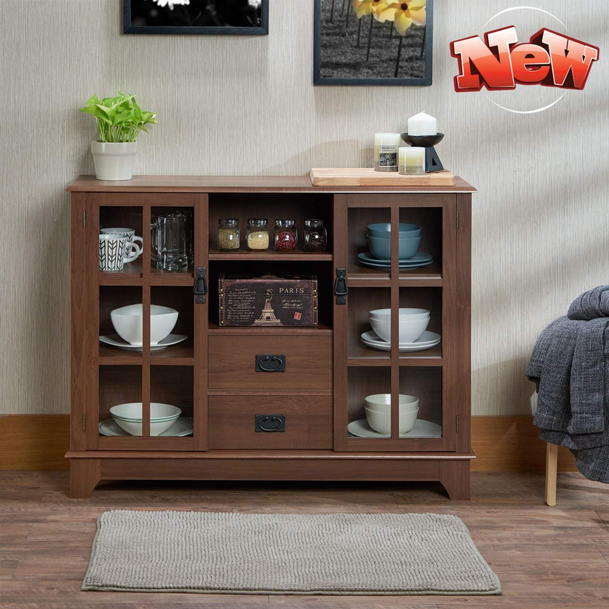 Cash special price Ninowokc Newly Upgrade Stronger Storage Sideboard Cabin Buffet 5 ☆ very popular