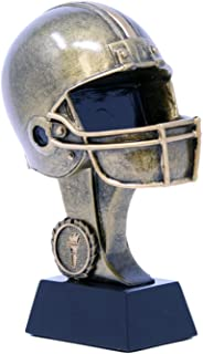 Decade Awards Football Helmet Resin Trophy - Gridiron Award - 7.5 Inch Tall - Engraved Plate on Request