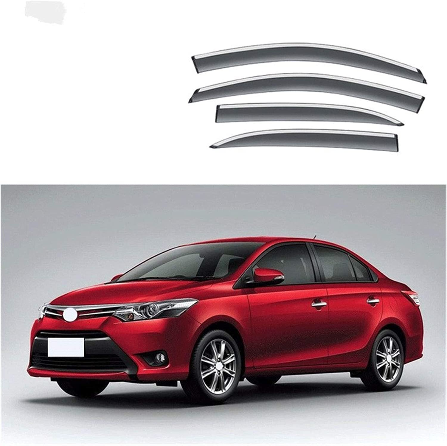 MYDH Window Visor Deflectors for 2014-2018 Ra Soldering Vios Inventory cleanup selling sale Toyota