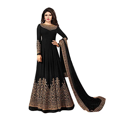 5f25ad9f44 Clickedia Women's Pure Banarasi hevay brocade Embroidered zardosi work Semi  Stitched Sky Blue Floor Length full