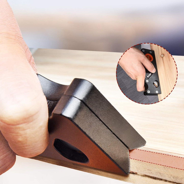 perfk Edge Trimming Chamfer Plane Adjustable Mini Hand Planer Wooden Carpenter Woodcraft Tool Black