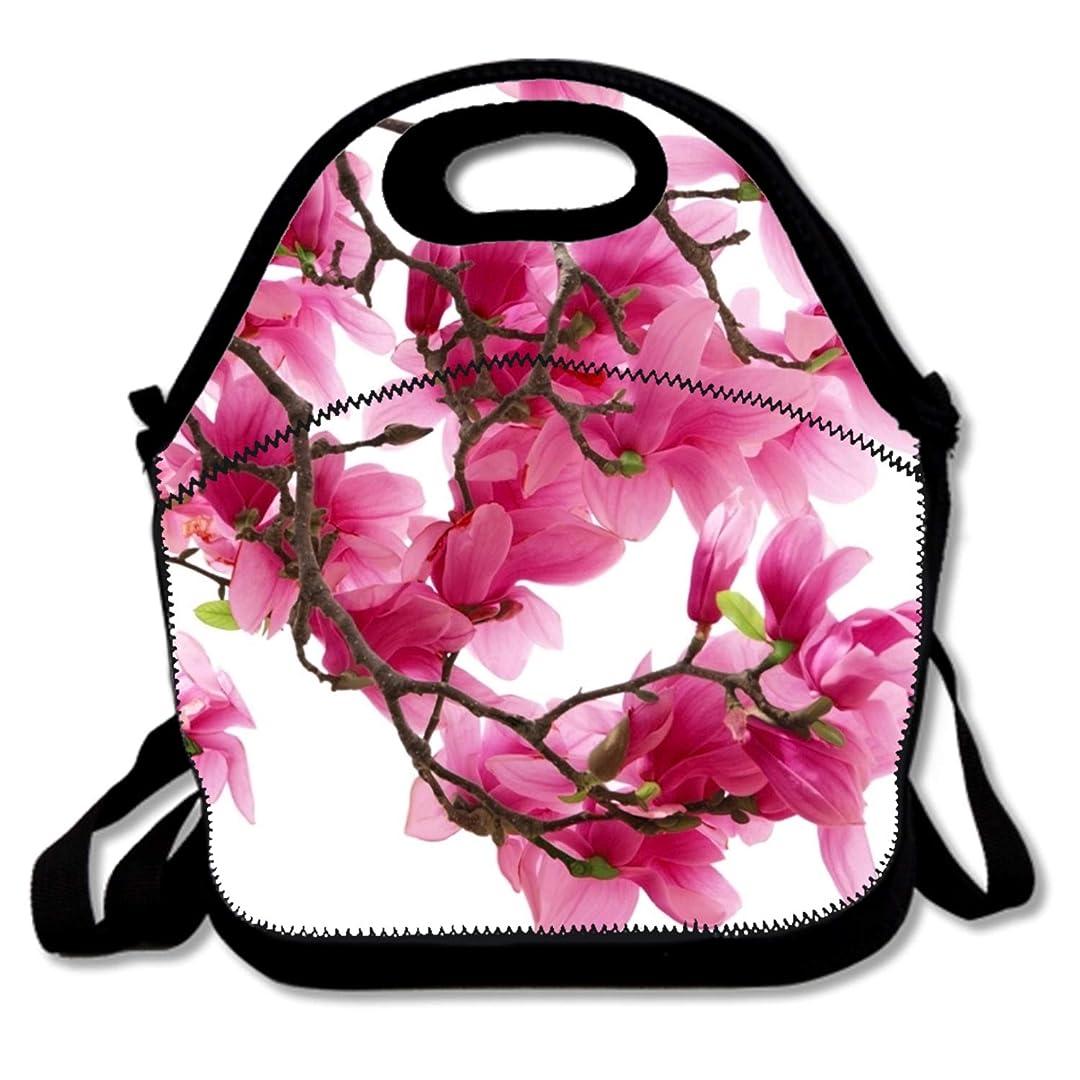 バウンス役に立たない許容できるマグノリアの木ピンクの花春開花ランチバッグ/ランチボックス/特殊/ピクニックバッグに昼食を絶縁クーラートラベルオーガナイザーを来ることはありません