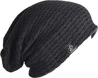 FORBUSITE Men's Long Slouchy Knit Beanie Winter Hat