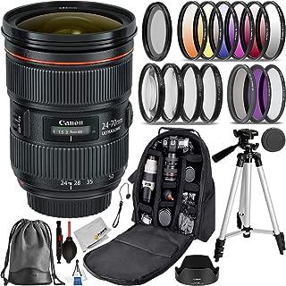 Canon EF 24-70mm f/2.8L II USM (#5175B002 USA) Advanced Bundle- Includes: 3pcs (UV, CPL, N-FLD) Filter Kit, 4pcs Close-up Fliter, 6pcs Graduated Color Filter Set and More