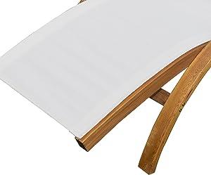 Outsunny Sedia a Sdraio Relax Lettino Prendisole Giardino Esterno Legno 165 × 72 × 70cm