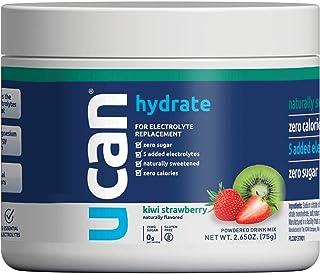 UCAN Hydrate Electrolyte Powder Jar with 5 Key Electrolytes - Kiwi-Strawberry Flavor. Sugar Free, 0 Carbs, 0 Calories, Glu...