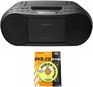 Sony Portable Full Range Stereo Boombox Sound System with MP3 CD Player, AM/FM Radio, 30 Presets, Headphone and AUX Jack -...