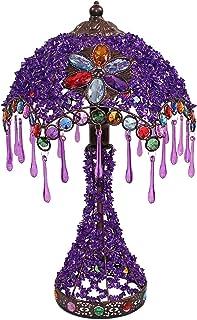 Lampe de Table Vintage Lampe de chevet élégante de style européen violet rouge de la mariée rouge lampe de mariage exotiqu...