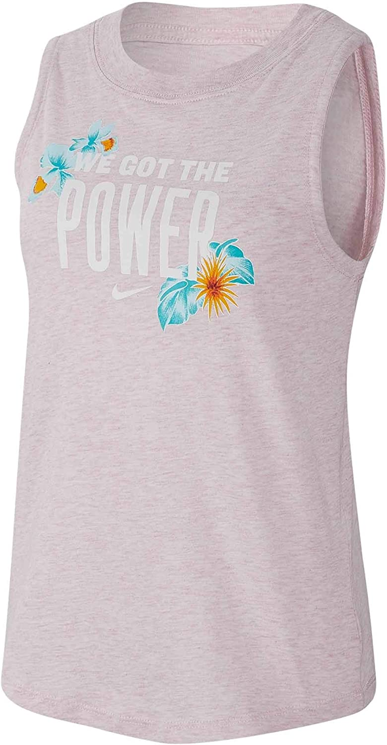 Nike Girls Sportswear outlet service Foliage Verb Muscle Tank Color Pink Top Fo