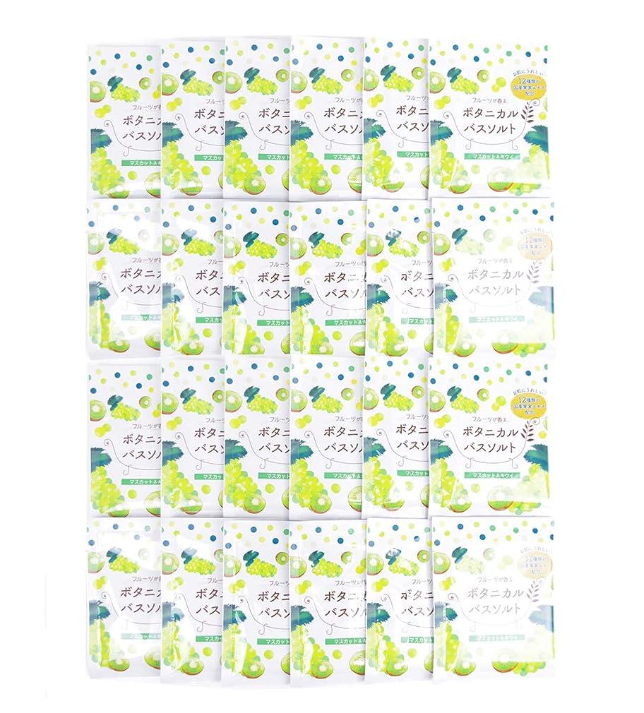 乱れ宗教的な成熟した松田医薬品 フルーツが香るボタニカルバスソルト マスカット&キウイ 30g 24個セット