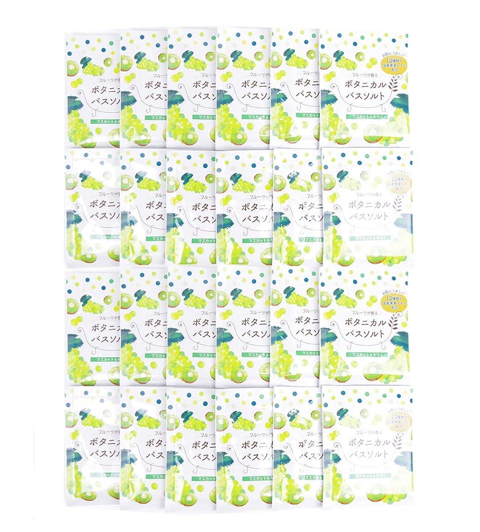 水星スタンド横松田医薬品 フルーツが香るボタニカルバスソルト マスカット&キウイ 30g 24個セット