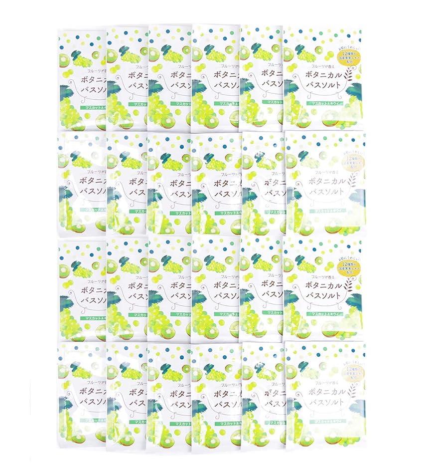 やさしく満了バルク松田医薬品 フルーツが香るボタニカルバスソルト マスカット&キウイ 30g 24個セット