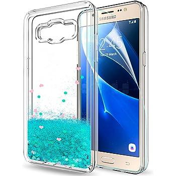 LeYi Funda Samsung Galaxy J5 2016 Silicona Purpurina Carcasa con ...
