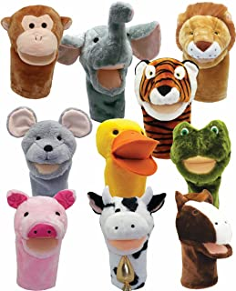 Get Ready Kids Bigmouth Animal Puppets, Set of 10