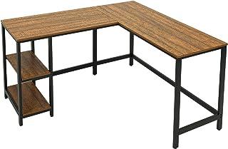 Meerveil Table de Bureau, Table d'Ordinateur, Bureau d'angle en Forme de L, Bureau Informatique, Grand Bureau de Travail p...